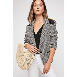 NWOT FREE PEOPLE Black Rodeo Blazer M